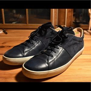 Tod's Contrast Suede Leather Sneaker Navy Blue